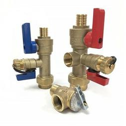 """PEX 3/4"""" Tankless Water Heater Valve Kit, Natural Gas, Propa"""