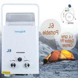 Portable 6L LPG 1.6 GPM Propane Gas Tankless Outdoor Instant