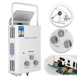 Portable Tankless Hot Water Heater 6L Propane Gas Shower Hea