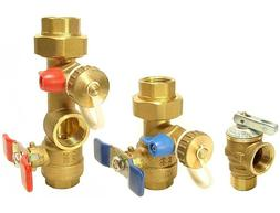 Natural Gas - Tankless Water Heater Isolation Valves Kit W/R