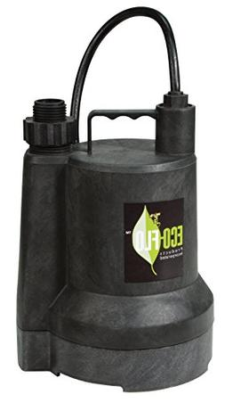ECO-FLO Products SUP54 Manual Submersible Utility Pump, 1/6