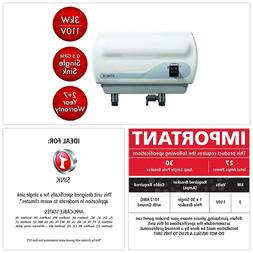 Tankless Electric Water Heater Single Sink 3kw 110V 0.5 GPM