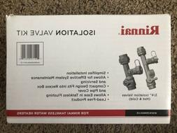 "RINNAI TANKLESS HOT WATER HEATER 3/4"" ISOLATION VALVE KIT NI"