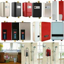 Tankless Instant Electric Hot Water Heater Bathroom Water Sh