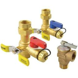 brass service vales hot cold relief valves