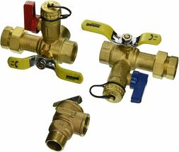rheem brass service valves for tankless water
