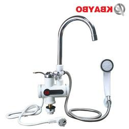 Tankless Water Heater Shower Instant Heating Faucet Bathroom