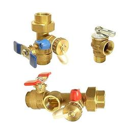 MSPowerstrange Water Heater Isolation Valves Kit With Relief